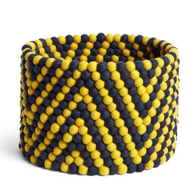 Bead Basket - Yellow Chevron - Ø. 40 cm - H. 30 cm