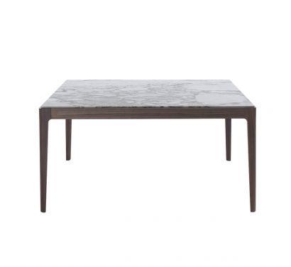 Ziggy Table 150x150 - Walnut/Calacatta Marble