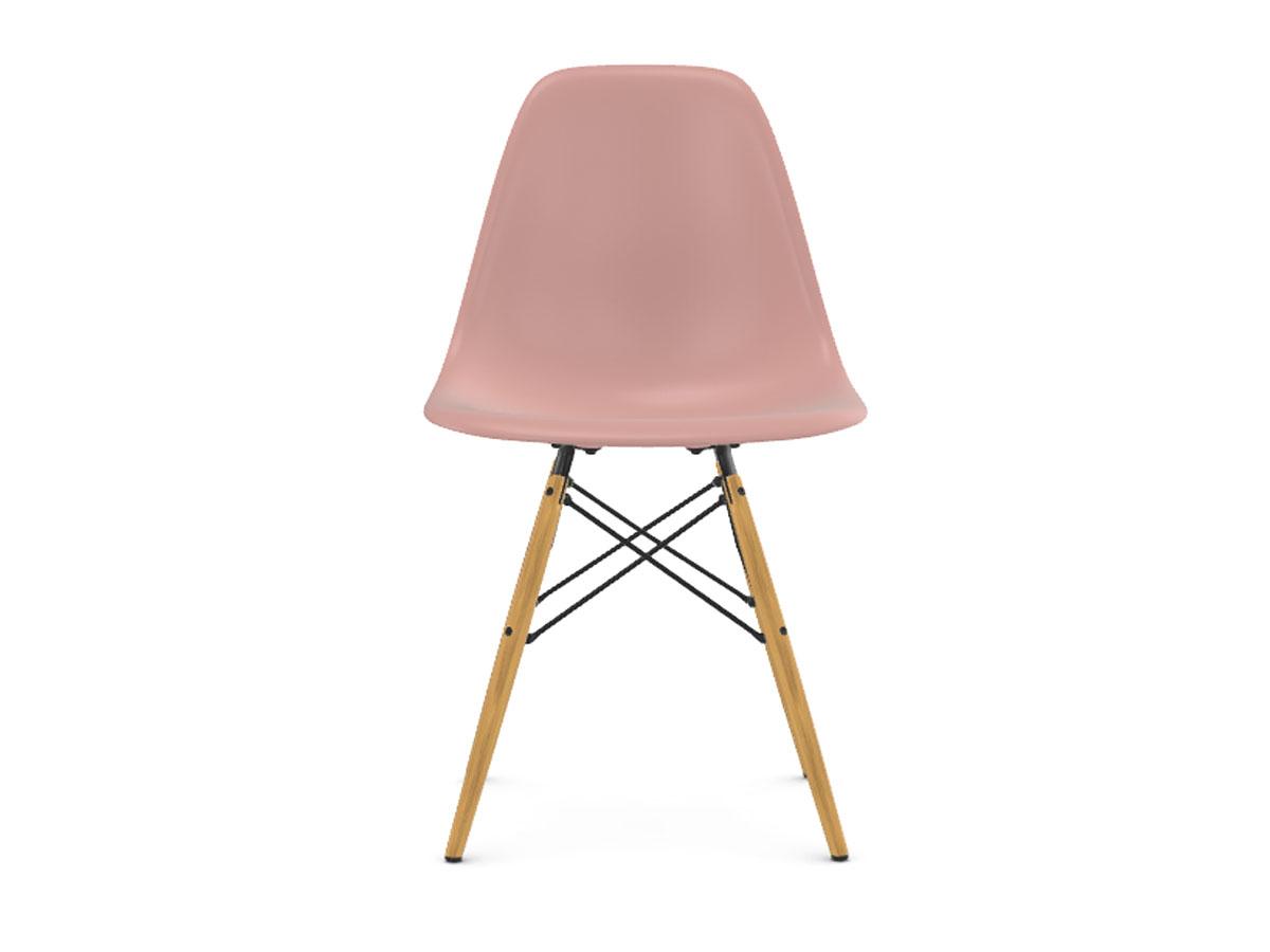 Eames Plastic Side Chair DSW Acero Giallastro Rosa Pallido