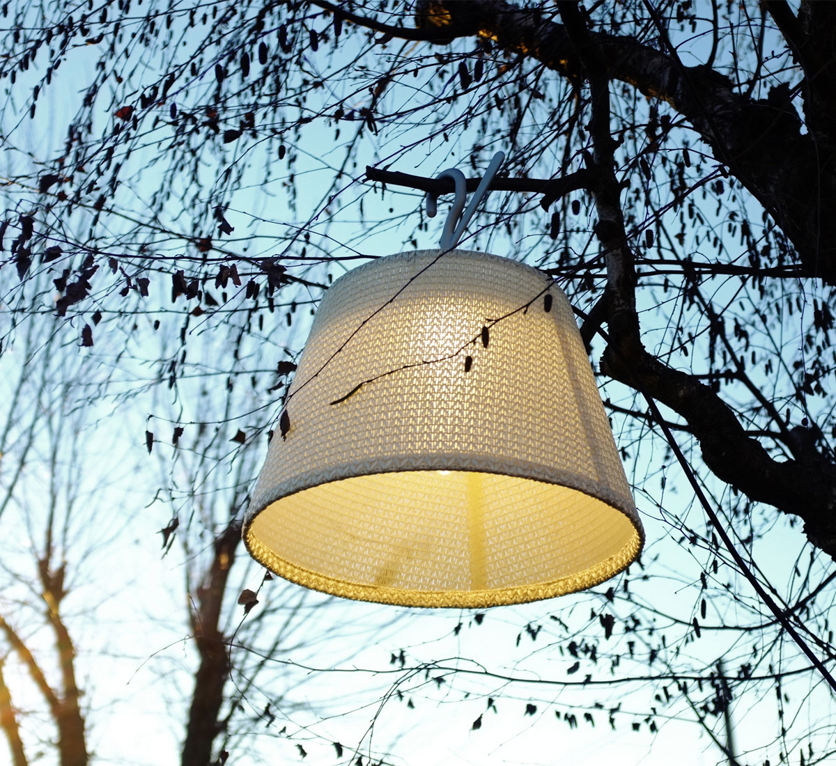 Tolomeo Paralume Lampione Outdoor Hook Lamp White