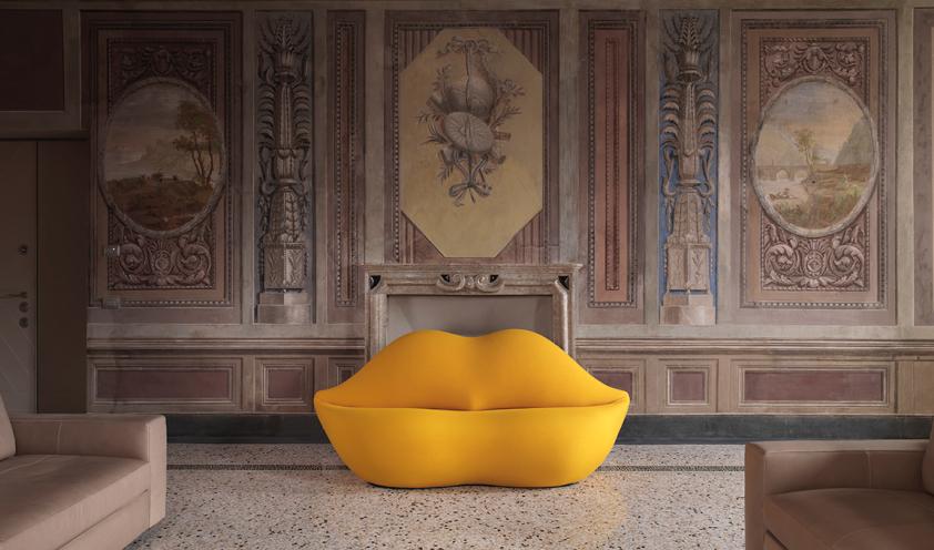 The Bocca sofa by Gufram turns 50