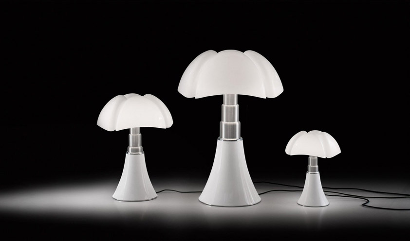 How an icon is born: the Pipistrello lamp by Gae Aulenti for Martinelli Luce