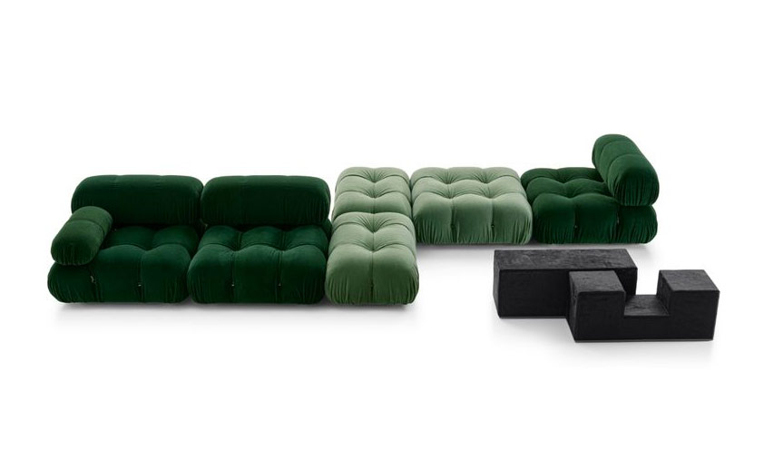 The return of the famous Camaleonda sofa by B&B Italia