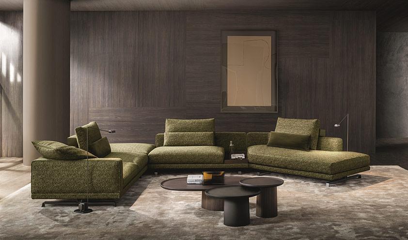 Novità Molteni 2020: il divano Octave disegnato da Vincent Van Duysen