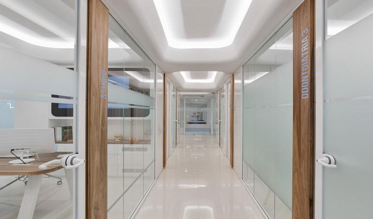 Cutrera dental clinic hallway