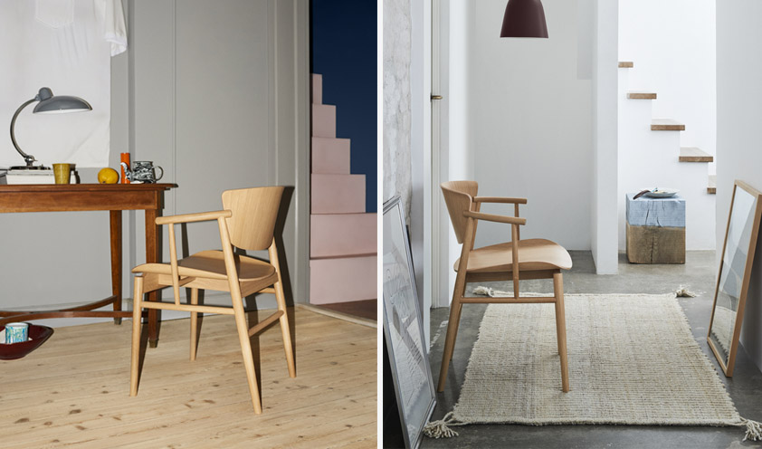 N01 chair by Fritz Hansen details