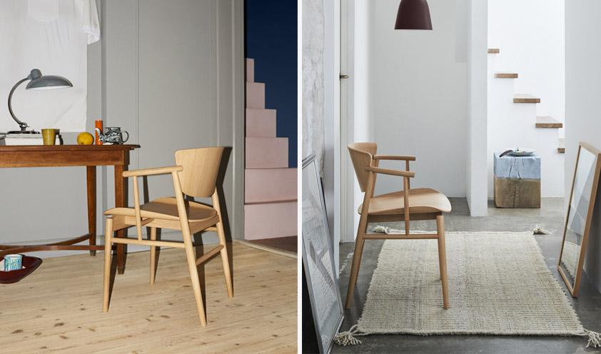 N01 chair by Fritz Hansen details