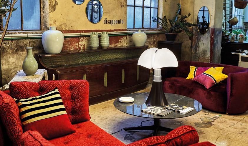 Pipistrello lamp by Gae Aulenti for Martinelli Luce