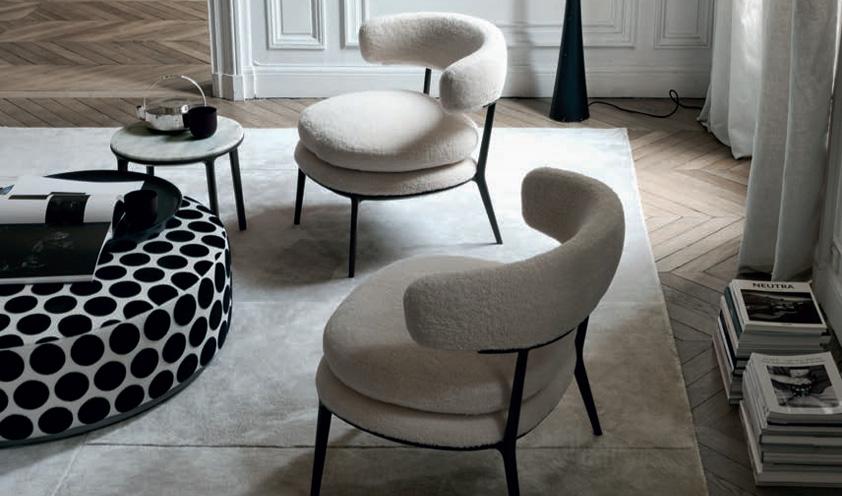 Caratos armchair by Maxalto