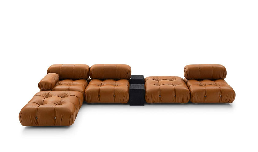 Leather Camaleonda sofa by B&B Italia