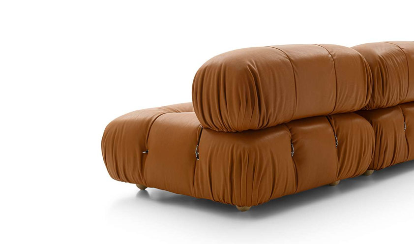 Leather details Camaleonda sofa by B&B Italia