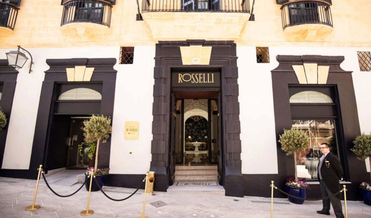 entrance hotel boutique Rosselli AX Privilege Malta