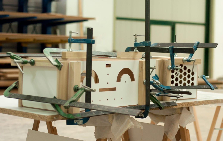 Radiofonografo by Brionvega making