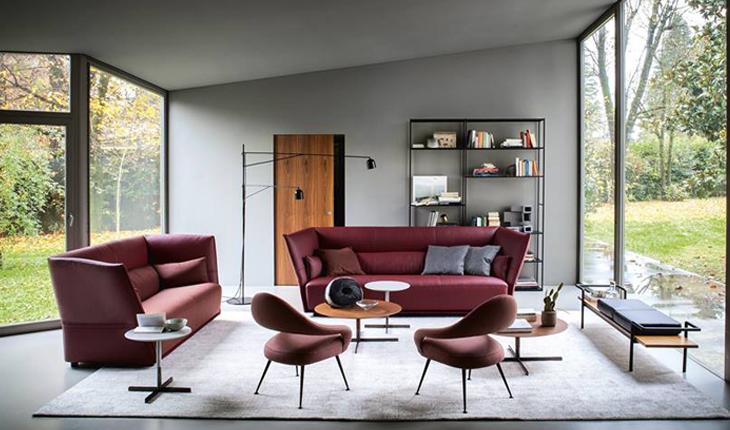 PF Journey Almo sofa Letizia armchair Poltrona Frau