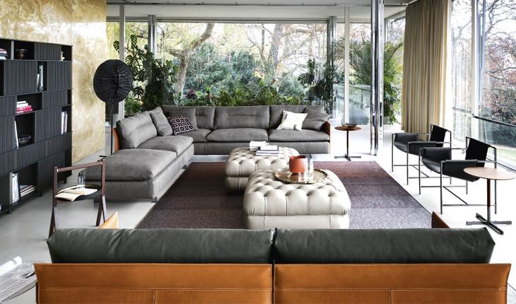 Pk Journey Grantorino sofa villa Tugendhat Poltrona Frau