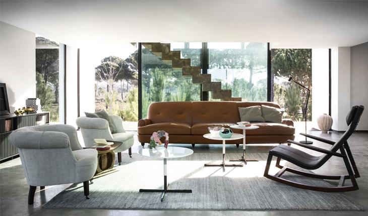 PF Journey Novecento sofa Comporta Poltrona Frau