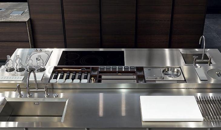 Varenna kitchen Inox